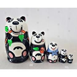 """Matrioška """"Panda"""", 5 dielna, 10 cm"""