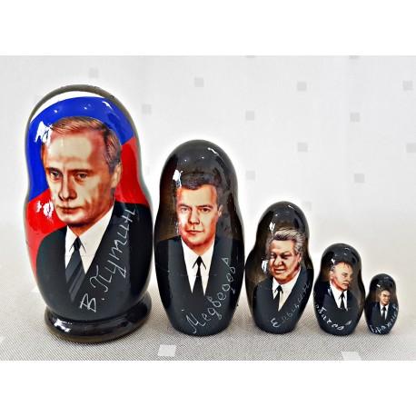 """Matrioška """"Putin"""", 5 dielna, 10 cm"""
