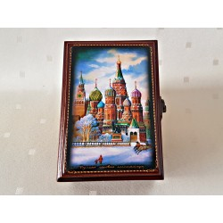 """Maľovaná krabička - šperkovnica """"Moskva"""",13x9 cm"""