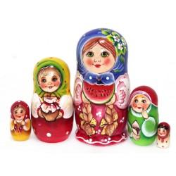 """Matrioška """"Vierka s melónom"""", 5 dielna, 14 cm"""