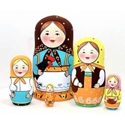 """Matrioška """"Prvá ruská matrioška"""", 5 dielna, 14 cm"""